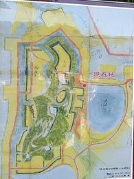 【韮山城】現地案内板の縄張り図