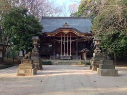 【石神井城】氷川神社の本堂。豊島氏創建と伝わる。本郭西側の氷川神社も城域だった。