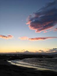 【新井城】夕陽の富士山