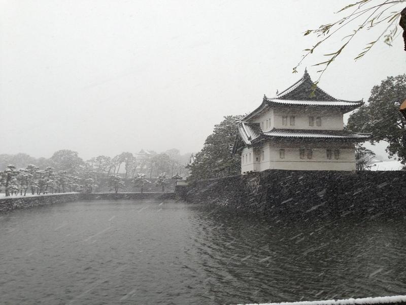 【江戸城】右手が巽櫓で、中央やや左奥が富士見櫓。