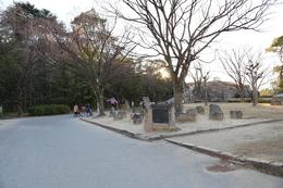 【大阪城】山里丸にある石垣には、担当諸藩の刻印が刻まれている。