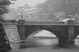 【江戸城】雪の伏見櫓。