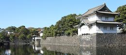 【江戸城】江戸城の撮影ポイントの1つ。<br><br>右が巽櫓(桜田二重櫓)、中央やや左が内桜田門、そして、左側の木々に隠れているのが富士見櫓(富士見三重櫓)。