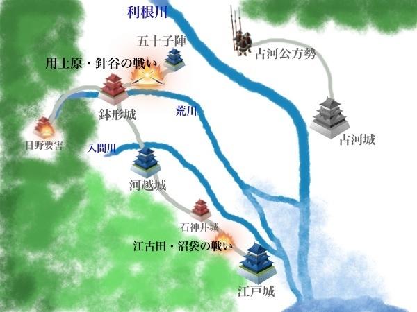 長尾景春の乱 絵地図