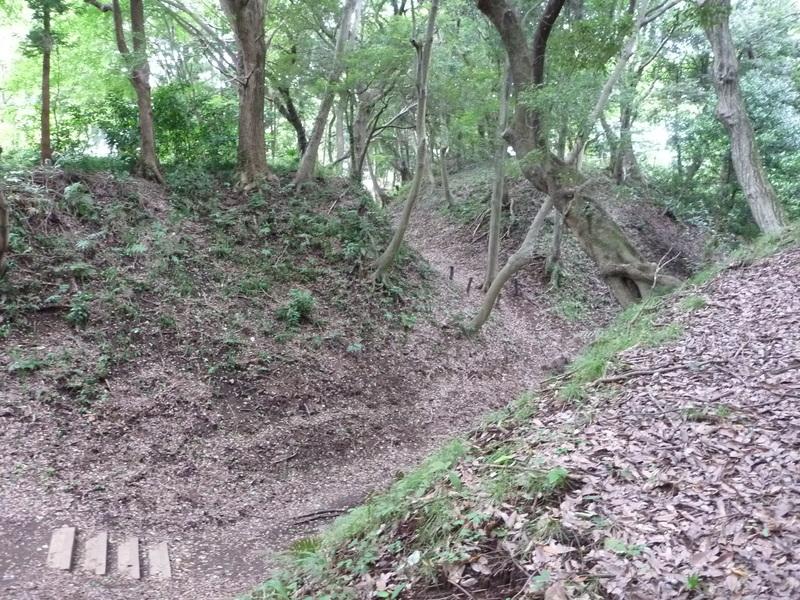 小田原城の御鐘の台空堀。