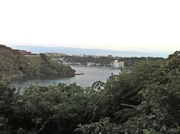 【新井城】新井城に面する油壺湾。三浦武士の血で湾が染まったため、その名がついたという。<br><br>写真は南を向いて、撮影した。背後は東京大学地震研究所で立入禁止だが、柵越しに明確な遺構を確認できた。