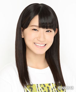 NMB48上西恵の実妹である上西怜。5期生の研究生として活動する。