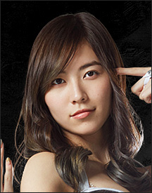 「豆腐プロレス(豆腐摔角)」里饰演白金ジム里的明星选手・松井珠理奈