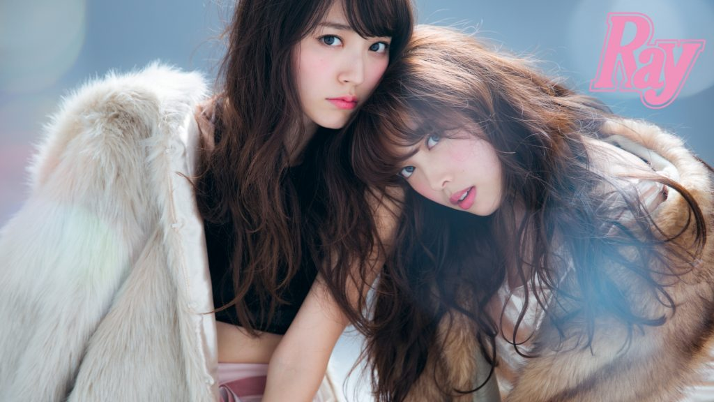 ℃-ute成員鈴木愛理和中島早貴出自《Ray》2月號/主婦之友雜誌社