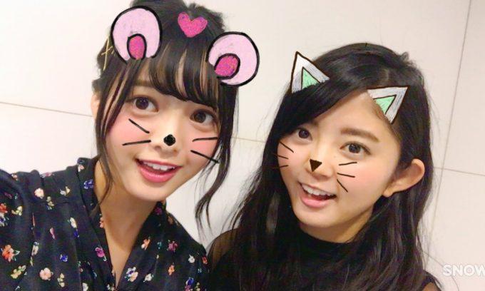 欅坂46成員平手友梨奈(左)和鈴本美湯(右)