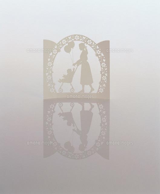 赤ちゃんとお散歩 ペーパークラフト (c)HIDEHARU NAITO/orion