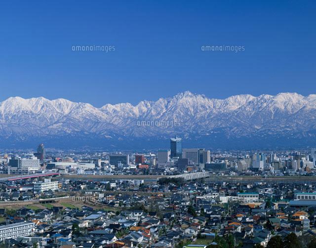 富山市全景と立山連峰[01075010203]  写真素材・ストックフォト ...