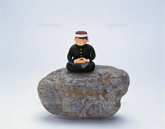 石の上の学生(オリジナル手作り人形) (c)STUDIO SATO/orion