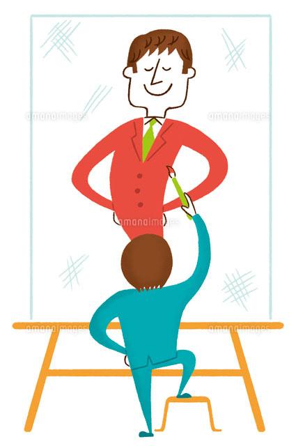 将来の自分の姿を描くビジネスマンのイメージ (c)Asterisk