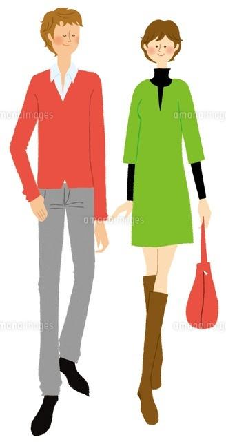 カジュアルな装いのカップル (c)Asterisk
