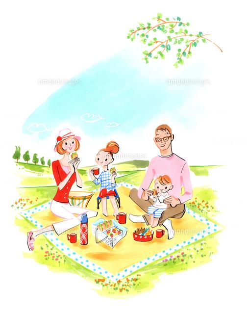 ピクニックをする家族 (c)Asterisk