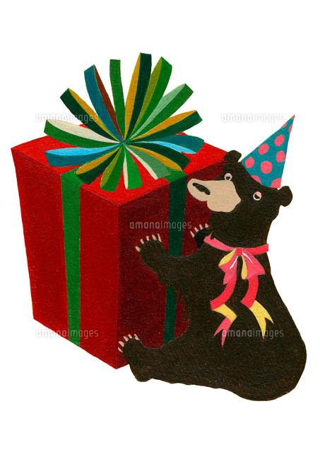 クマとプレゼントボックス (c)megumi masubuchi