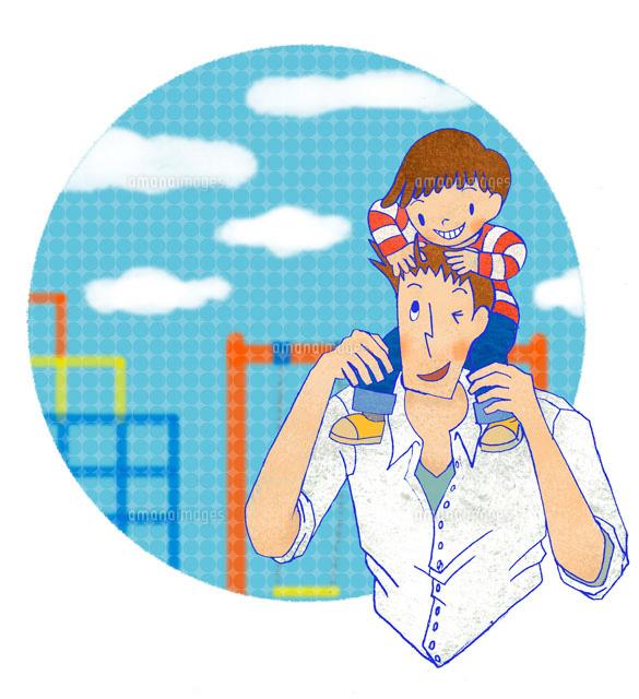 公園に居る父と小さい息子 (c)megumi masubuchi