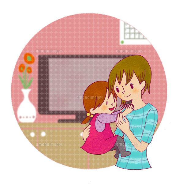 リビングに居る母と小さい娘 (c)megumi masubuchi