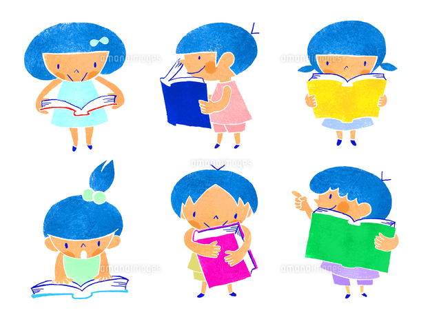 本を読む子供たち (c)megumi masubuchi