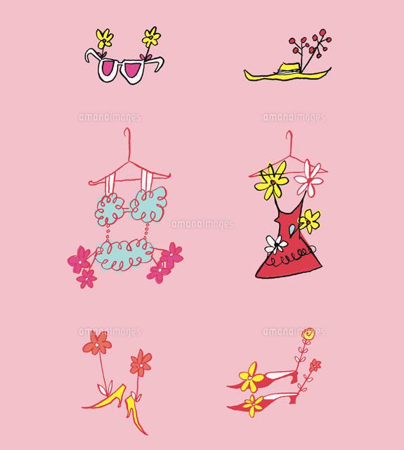 ファッションと花[02515000024]| 写真素材・ストックフォト・イラスト素材|アマナイメージズ