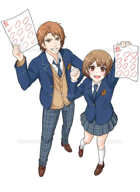 高校生男女セット 俯瞰_2 (c)Manga Designers Lab