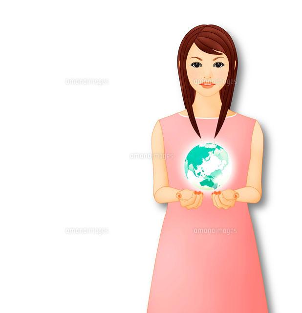 地球を抱える女性 イメージ (c)Lmuotoilu/ailead
