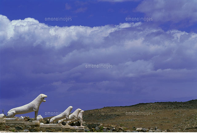 Terrace of The Lions Archaeological Site at Delos Greece ...