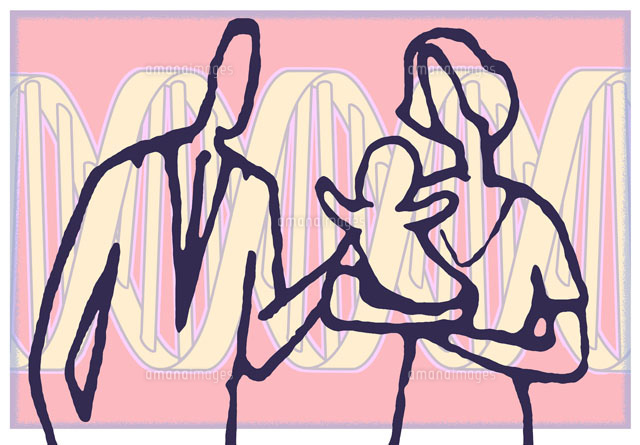 Family in front of DNA structure (c)Westend61/Masterfile