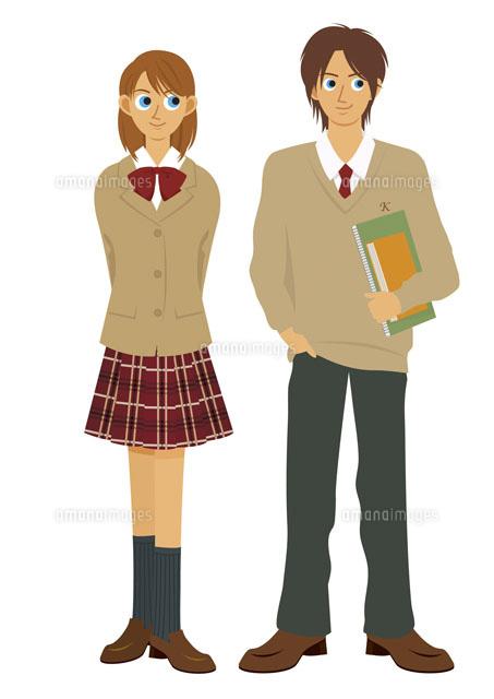男子学生と女子学生 (c)両口実加/WAHA