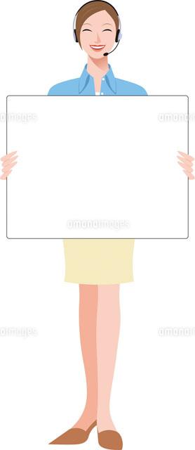 白いプレートを持つ女性オペレーター (c)カネヒラ・ヤスコ/WAHA