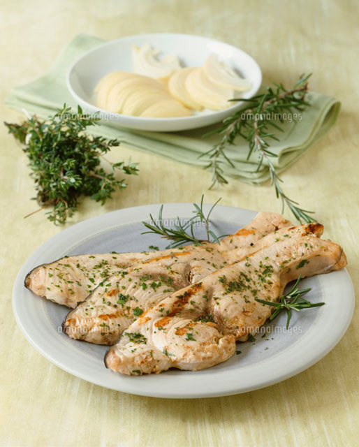 Grilled swordfish with herb marinade[22199047020]| 写真素材 ...