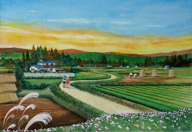 「田舎の風景イラスト」の画像検索結果