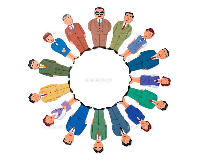 スーツの男性と女性の集合 (c)HIROMI TATSUTA