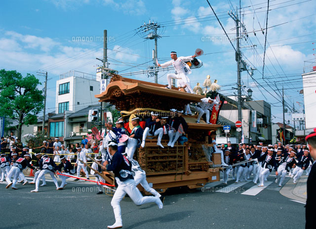 岸和田だんじり祭り[25077000057]| 写真素材・ストックフォト・イラスト素材|アマナイメージズ