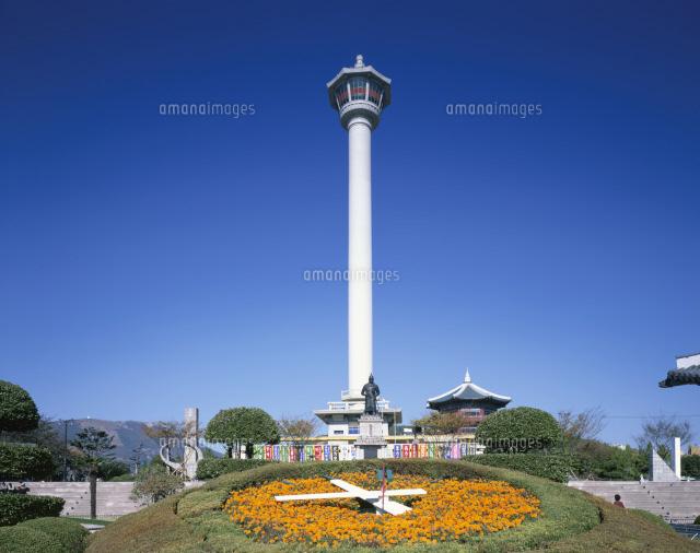 龍頭山公園の釜山タワー
