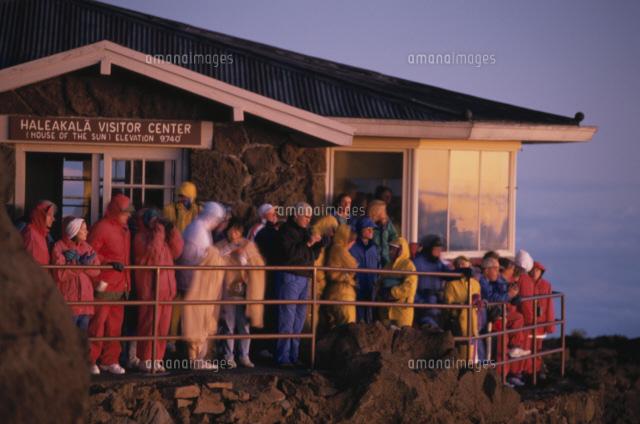 ハレアカラ山頂で日の出見学 (c)TAKAJI OCHI/SEBUN PHOTO