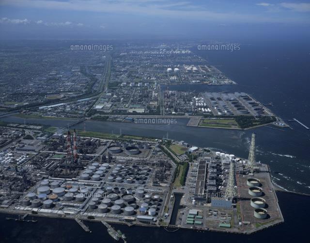 京葉工業地帯 市原より望む木更津