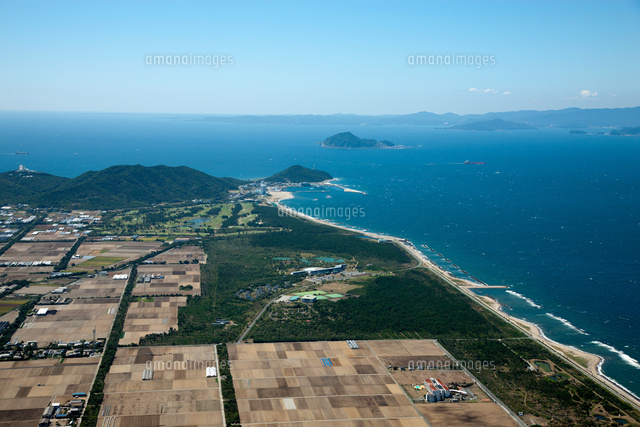 西ノ浜より伊良湖岬、神島、鳥羽方面(伊良湖水道)[25397009943 ...