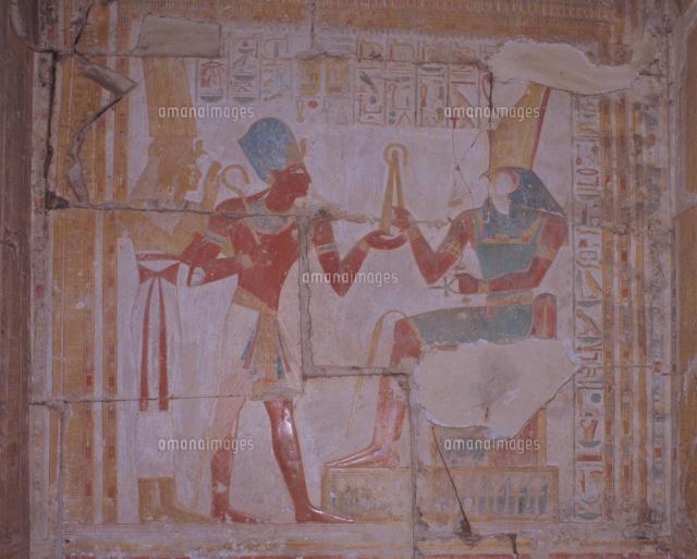 アビドス神殿の神々の壁画[25886...