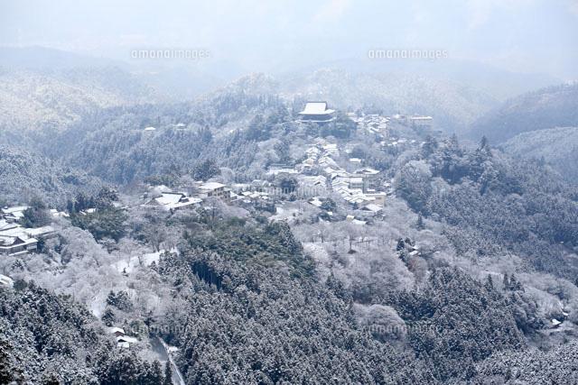 雪の吉野山の蔵王堂遠望[26009002169]| 写真素材・ストックフォト ...