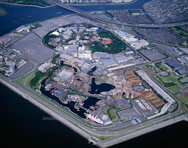 上空から望む東京ディズニーランド