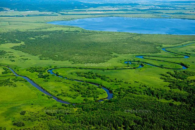 サロベツ<b>原野</b>サロベツ川パンケ沼[26058010670]| 写真素材・ストック <b>...</b>