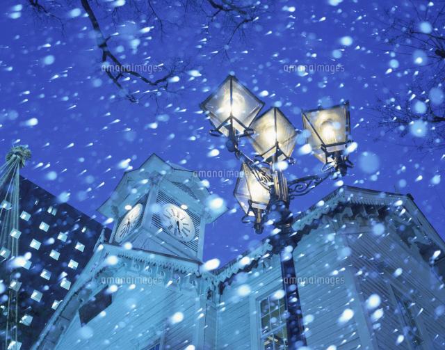 時計台の冬[26120002846]| 写真素材・ストックフォト・イラスト ...