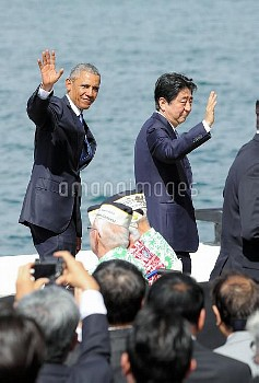 【要事前申請】安倍首相とオバマ大統領 米ハワイ・真珠湾