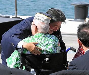 【要事前申請】元米兵らと安倍晋三首相 米ハワイ・真珠湾
