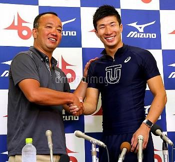 【要事前申請】陸上インカレ)男子100 桐生と東洋大コーチ 日本選手初の9秒台