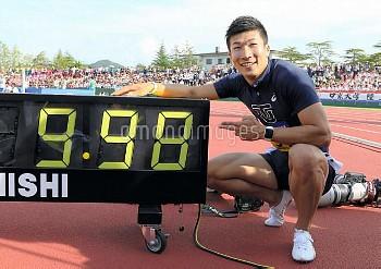 【要事前申請】陸上インカレ)男子100で桐生9秒台 記録