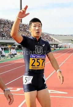 【要事前申請】陸上インカレ)男子100で桐生9秒台 喜び