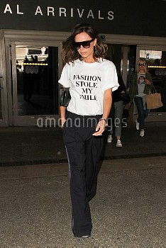 Victoria Beckham is seen at LAX